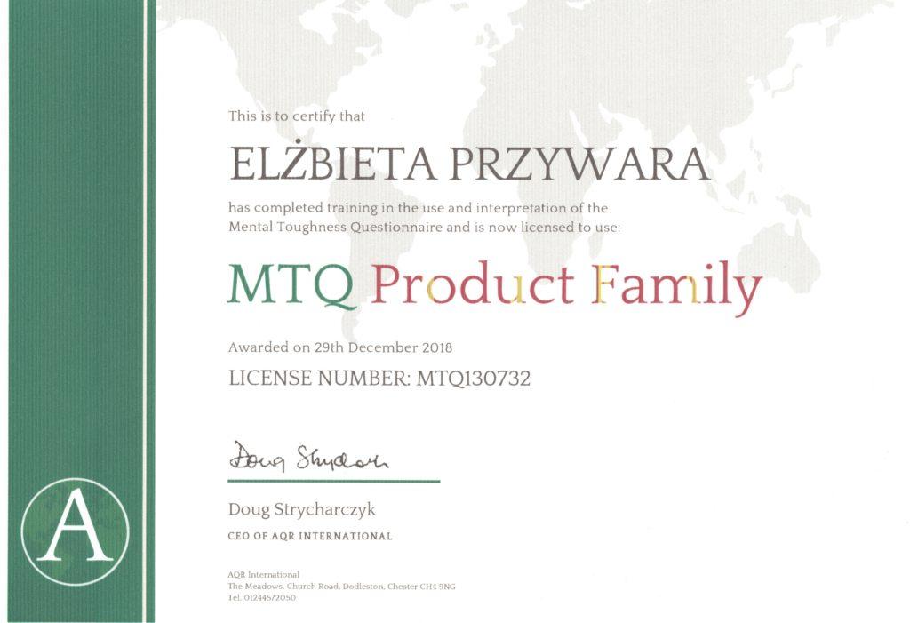 Certyfikat MTQ